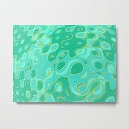 Kaleidoscope Ocean Waves Metal Print