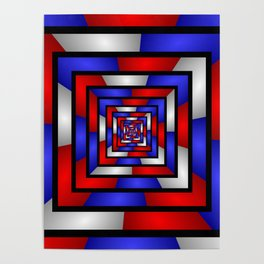 Colorful Tunnel 3 Digital Art Graphic Poster