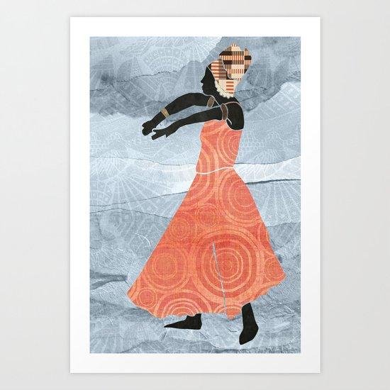African Dancer 2 Art Print