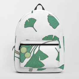Green Ginko Branches Backpack