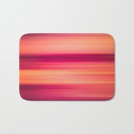 Abstract background blur motion red sunset drops Bath Mat