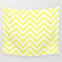 Chevron Stripes : Yellow & White Wall Tapestry