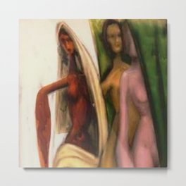 African American Masterpiece 'The Odd Sister - The Other Girl in the Mirror' by Sam Brown Metal Print