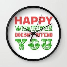 Happy Whatever Xmas Wall Clock