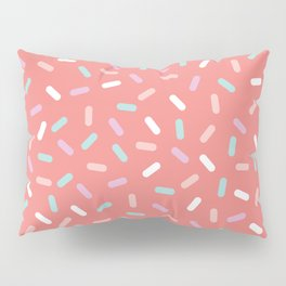 Coral Sprinkle Confetti Pattern Pillow Sham
