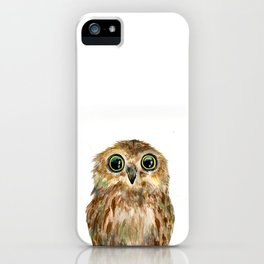watercolor painting owl iPhone Case