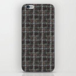 Plaid tartan black, grey. iPhone Skin