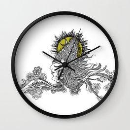 Shiva Moon Wall Clock