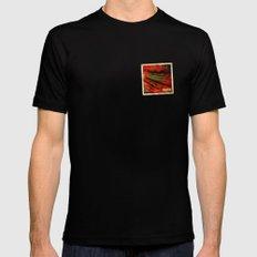Grunge sticker of Albania flag Mens Fitted Tee MEDIUM Black