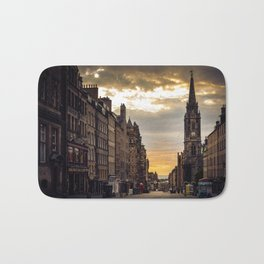 Royal Mile Sunrise in Edinburgh, Scotland Bath Mat