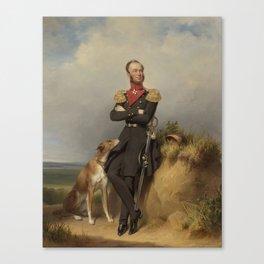 Portrait of William II, King of the Netherlands, Jan Adam Kruseman, 1839 Canvas Print