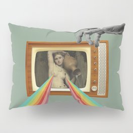 Tits on TV Pillow Sham