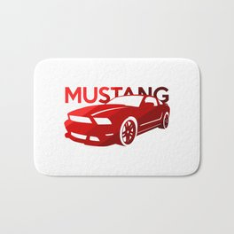 Ford Mustang Boss - classic red - Bath Mat