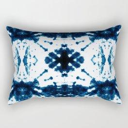 Velvet Shibori Blue Rectangular Pillow