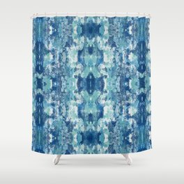 Sycamore Kaliedoscope INDIGO Shower Curtain