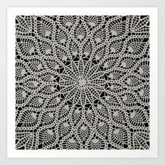 Delicate - Silver Art Print