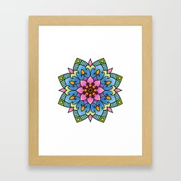 Colourful Botanical Mandala Framed Art Print