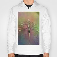 rowing Hoodies featuring Rowing the Rainbow River by benzos