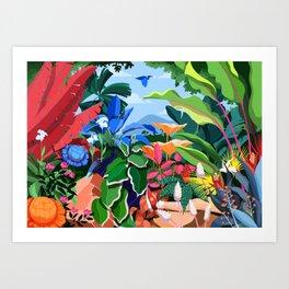 Jungle Nap Art Print