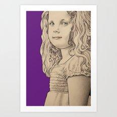 Gothic girl Art Print