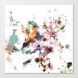 Decorative Subdued Pastel Pattern Abstract Canvas Print