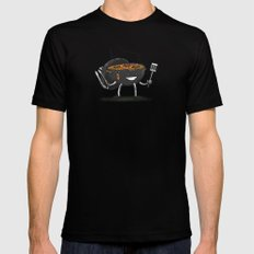 GrillBot LARGE Mens Fitted Tee Black