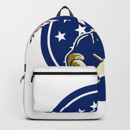 American Butcher USA Flag Icon Backpack