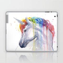 Rainbow Unicorn Watercolor Laptop & iPad Skin