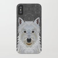 westie iPhone & iPod Cases featuring Westie by ArtLovePassion