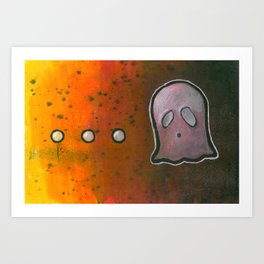 dot dot dot GHOST! Art Print