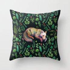 a wild wolf Throw Pillow