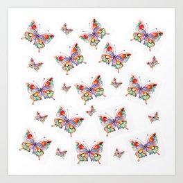 Butterflies abstract print Art Print