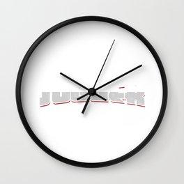 Jugger in Gradient Gift Wall Clock
