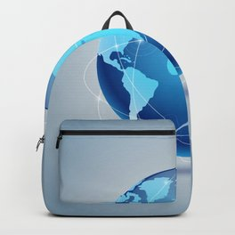 Abstract Blue Globe Backpack
