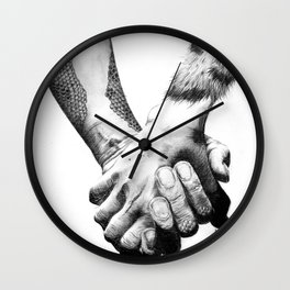 Human Nature: Hands Wall Clock