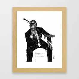 Zombie Bespoke (With Copy) Framed Art Print
