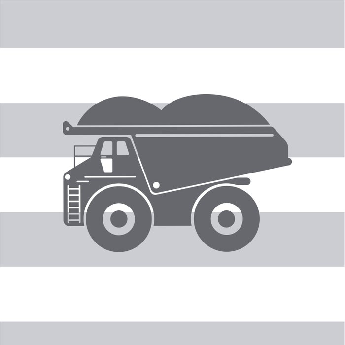 Grey on Grey Dump Truck Comforters
