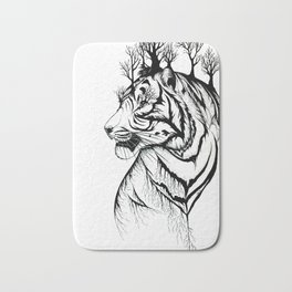 Lady Tiger in the Trees Bath Mat