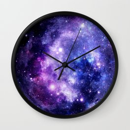Galaxy Planet Purple Blue Space Wall Clock