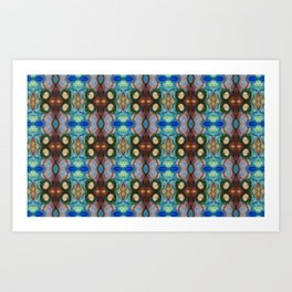 WaterColor Paint Circles in Muted Tones Art Print