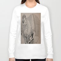 oscar wilde Long Sleeve T-shirts featuring Oscar Wilde Author Portrait by Wicked Ink