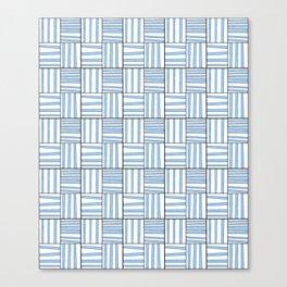 symetric tartan and gingham 7 -vichy, gingham,strip,square,geometric, sober,tartan Canvas Print