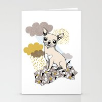 chihuahua Stationery Cards featuring Chihuahua by Camille Roy
