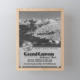 retro SANTA FEE Grand Canyon Framed Mini Art Print
