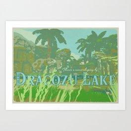 Dracozu Lake Art Print