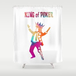 Poker King colored Shower Curtain