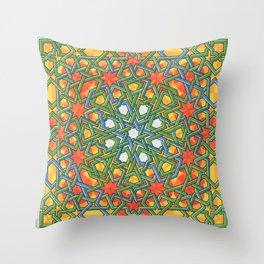 8-Fold Alhambra Pattern Throw Pillow