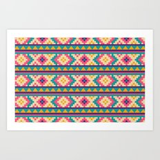 I Heart Patterns #016 Art Print