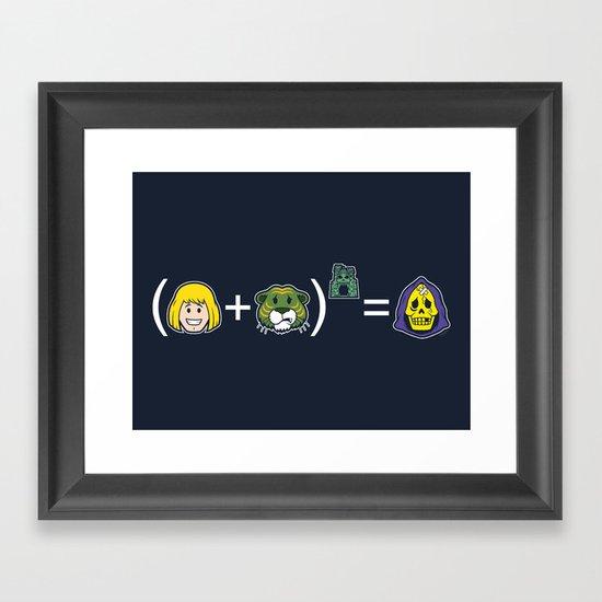 He-Math Framed Art Print