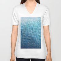 fabric V-neck T-shirts featuring Fabric by Anna Berthier